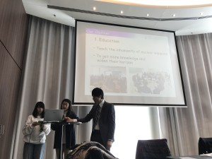 NPT再検討会議 第1準備委員会 ⑥ 高校生派遣団,  ウィーン  5日目。