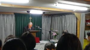 ⑧戸手教会礼拝